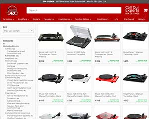 Audio-Exchange Online Store Screenshot