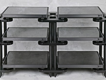 Double 3 Tier Black Custom Rack