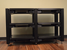 Double 3 Tier Natural Wood Custom Rack