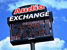 Road Sign - Audio Exchange Richmond VA
