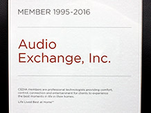 CEDIA Member 1995-2016 - Audio Exchange Richmond VA